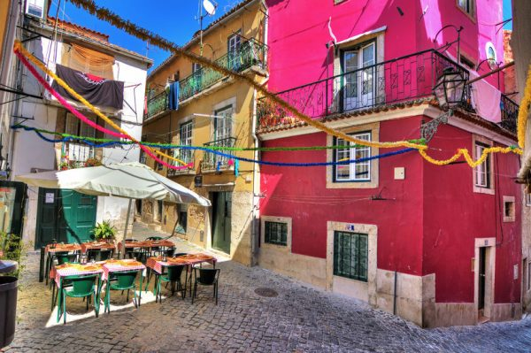 Alfama Lisbona Portogallo