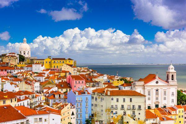 Vista Alfama Lisbona Portogallo