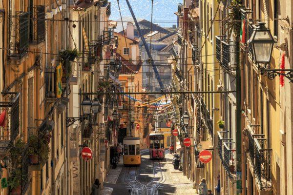 Electrico Tram 28 Lisbona Portogallo