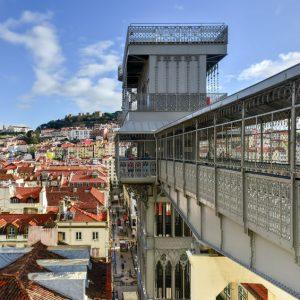 Elevador Santa Justa Lisbona Portogallo