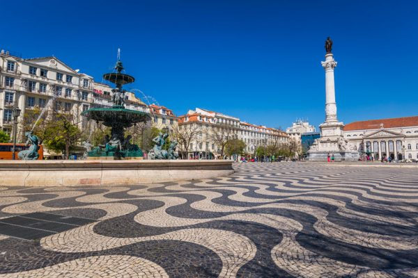 Rossio Lisbona Portogallo